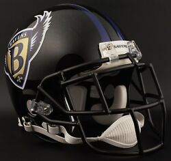 Baltimore Ravens 1996-1998 Nfl Authentic Gameday Football Helmet W/egop Facemask