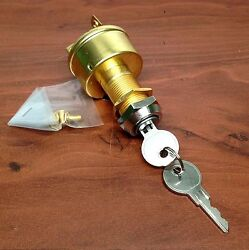 Marine Brass Ignition Starter Switch 3 Terminals 3 Positions Heavy Duty Off On