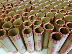 250 Penny Paper Coin Wrappers. Pre-crimped 1 End. Shotgun Rolls. 1 Cent Pennies