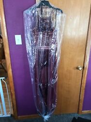 Prom Dress. Brand Bee Darlin. Red With Gold. Size 13/14 Ties At Neck.