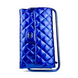 Chanel Patent Leather Blue Frame Runway Clutch