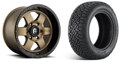 18 Fuel D617 Podium Bronze Wheels At Tires Package 6x5.5 Toyota Tacoma Taco