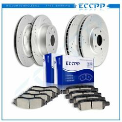 Ceramic Brake Pads And Rotors Front Rear For Infiniti G25 G35 G37 2.5l 3.5l 3.7l