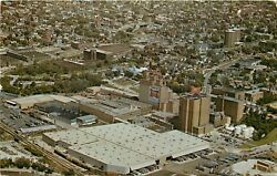 Miller Beer Brewing Plant Milwaukee Wisconsin Aerial View Wi Postcard Pm 1975
