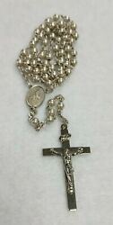Vintage Afco Sterling Silver 5 Decade Rosary