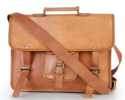 New Branded Leather Vintage Messenger Shoulder Men Satchel Laptop Briefcase Bag $33.48