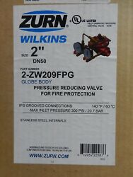 Zurn Wilkins Zw209fpg 2 Grooved Pressure Reducing Valve Fire Protect 2-zw209fpg