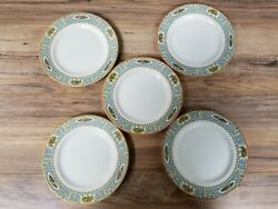 Vintage Set Of 5 Myott Son And Co England 8 Plates Imperial Semi Porcelain.