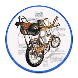 1970's Sears Brand Screamer Bicycle Design Reproduction Circle Aluminum Sign