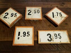 Collection Antique Roadside Produce Trade Signs Advertising Fresh Produce