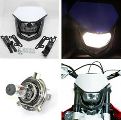 H4 Motorcycle Headlight  Halogen Lamp Driving Light with Mount Accessories 12V