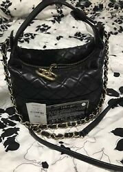 Tag Card CHANEL small GABRIELLE Black Classic Flap Boy Hobo Shopping tote Gold