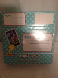 1997 Looney Tunes Postal Stamp Collection Pewter Star Ornament In Orig Box