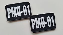 Airsoft Military One Pair Of Camouflage Call Sign Patches Custom Made X 2