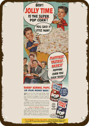 1954 Jolly Time Popcorn And Ozzie And Harriet Nelson Vintage Look Replica Metal Sign