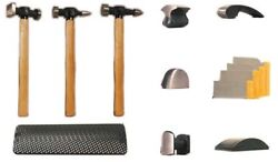 Aes 2730 13pc Hammer And Dolly Set - Wood Handles 13pc