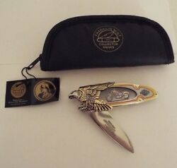 Franklin Mint Collector Knife Harley-Davidson Low Rider Yellow w Eagle