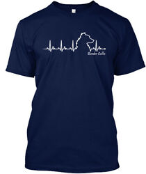 Border Collie Heartbeat - Hanes Tagless Tee T-Shirt