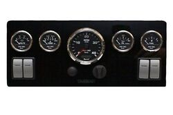 Yanmar Marine Instruments Panel Custom with 4 rocker switches fully wired