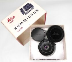 Leica 35mm F2 Summicron 2nd Version With Tab Aperture 2447435 .... Minty W/box