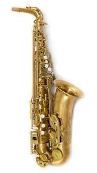 Saxophone.com Professional Unlacquered Red Brass Alto Model As85-641up