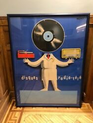 'disques Radio-tele' By Beric - Original French Advertising Poster 1950 Framed
