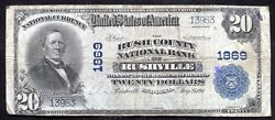 1902 20 The Rush County Nb Of Rushville, In National Currency Ch. 1869