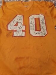 Authentic Tampa Bay Buccaneer Nfl Autographed By The 1991 Team Jersey