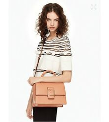 NWT KATE SPADE HEALY LANE HEDDY Cameltan SATCHEL CROSSBODY LEATHER BAG $229.99