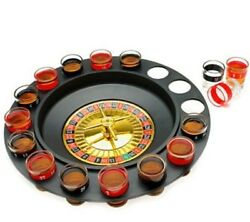 12 Drinking Roulette Wheel Game Kit Roulete Spinning With Shot Glass Set