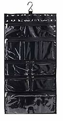 Hanging Travel Organizer 9 Large Clear Zipper Pockets for Makeup Toiletry Bag
