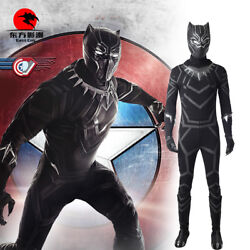 Dfym Captain America Civil War Cosplay Black Panther Costume Tand039challa Jumpsuit