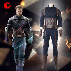 Dfym Avengers Infinity War Captain America Steve Rogers Cosplay Costume Outfit