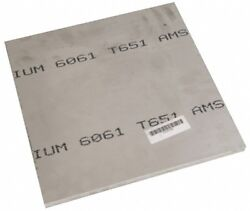 Value Collection 3/8 Inch Thick X 24 Inch Wide X 24 Inch Long, Aluminum Plate...