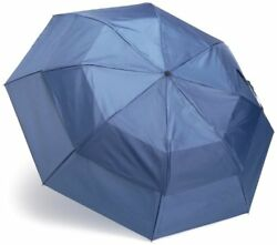 Totes Blue Line  Golf-Size Vented Canopy Compact Umbrella Steel Blue One Size