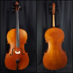 Euro Standard Antique Fully Carved 4/4 Cello W/ Bag And J.t. Jet Carbon Fiber Bow