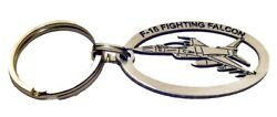 Keyring F-16 Falcon Stainless Steel