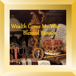 Wealth Come My Way Voodoo Banner Altar Cloth Ritual Spell Kit Success Cash