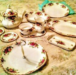 Old Country Roses Royal Albert Bone China Serving 11 Pieces