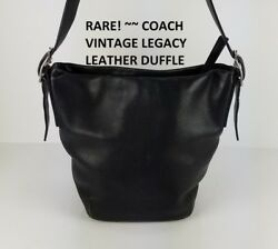 **COACH Legacy Purse Black Leather Bucket Crossbody Buckle Accent Bag 9186**