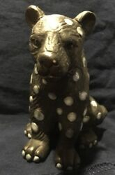 Black Panther Ceramic Figurine With Spots