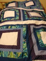 4 Square In A Square Hand Made Quilt 115 Wide And 106 Long