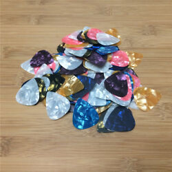 Lot 1000X Acoustic Bulk Celluloid Electric Colored Smooth Plectrum Guitar Picks