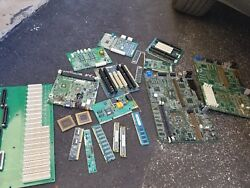 Pc And Ceramic Cpu Gold Scrap For Refining / Recovery Gold Fingers Gold Pins Lot