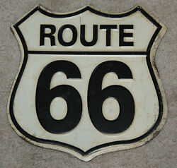 Route 66 Embossed Metal Signs Man Cave Decor Gas Pump Dad Gift Restaurant Rustic