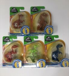 Imaginext Jurassic World Red And Blue Raptors Compies T.rex Styigimoloch Eggs