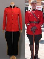 Due South Royal Canadian Mountie Red Uniform Costume Cosplay Halloween
