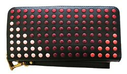 Fossil Emma RFID Large Zip Clutch Leather Wallet Bright Multi
