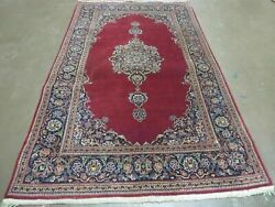 4'x7' Antique Fine Hand Made Indian Manchester Wool Rug Carpet Pomegranate