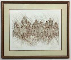 Rare Sold Out Guillaume Azoulay Preakness Ap Hand Signed Etching Framed Coa